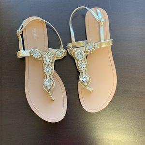 f792504f46d0 David s Bridal Crystal Sling Back Sandals